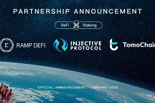 RAMP DeFi объявила о партнерстве с Injective Protocol и TomoChain